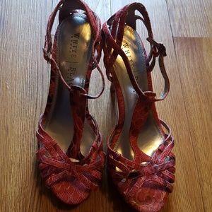 White house black market strappy sandals